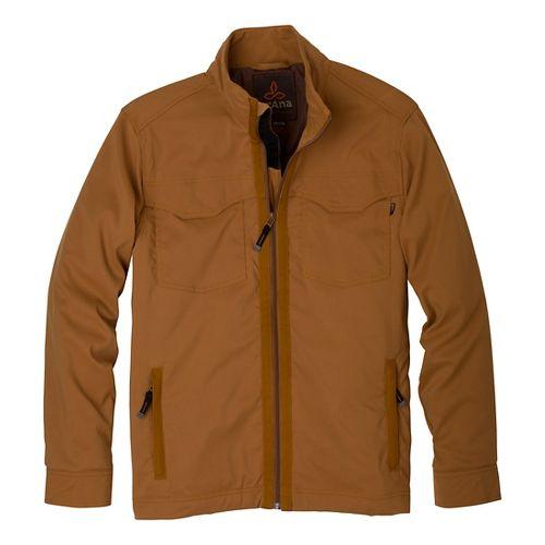 Mens Prana Ogden Outerwear Jackets - Dark Ginger S