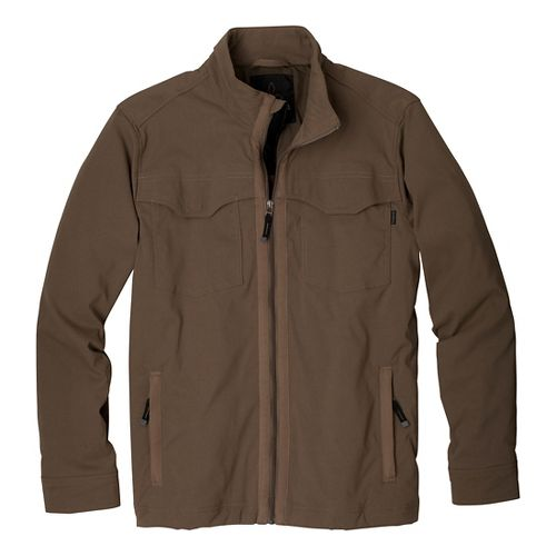 Mens Prana Ogden Outerwear Jackets - Mud M