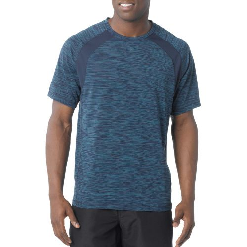 Mens Prana Andy Short Sleeve Technical Tops - Dress Blue L