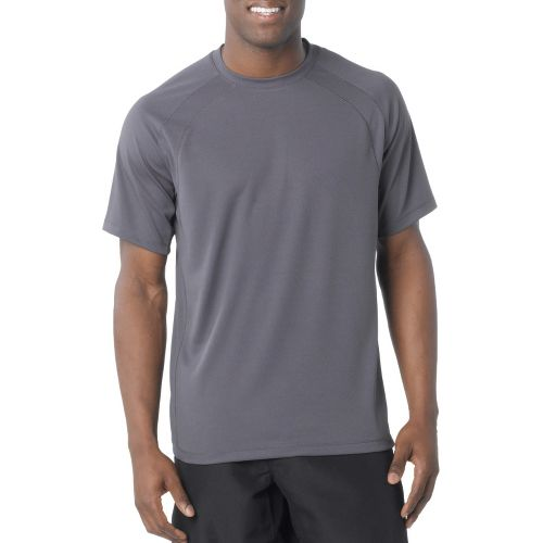 Mens Prana Andy Short Sleeve Technical Tops - Solid Coal S
