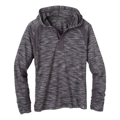 Mens Prana Andy Long Sleeve No Zip Technical Tops - Coal S