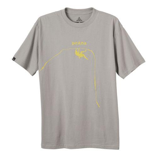 Mens Prana Solo T Short Sleeve Technical Tops - Grey L