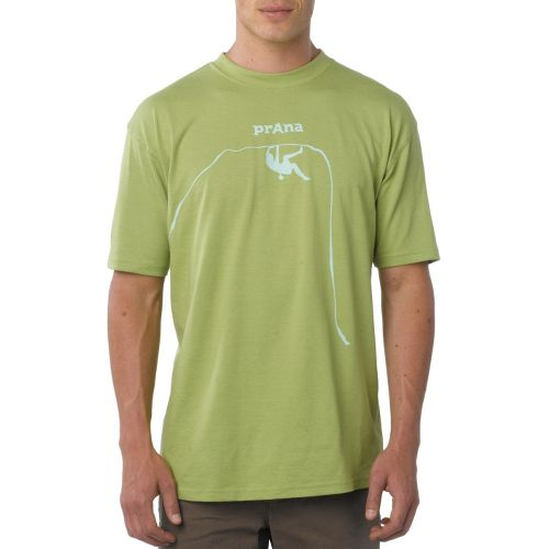 Mens Prana Solo T Short Sleeve Technical Tops - Spinach L
