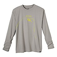 Mens Prana Solo Long Sleeve No Zip Technical Tops