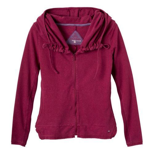 Womens Prana Reba Zip Up Long Sleeve 1/2 Zip Technical Tops - Plum Red S ...