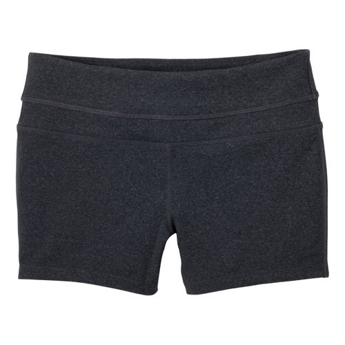 Womens Prana Audrey Unlined Shorts - Charcoal Heather XL