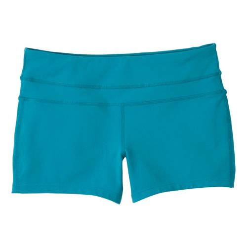 Womens Prana Audrey Unlined Shorts - Capri Blue M