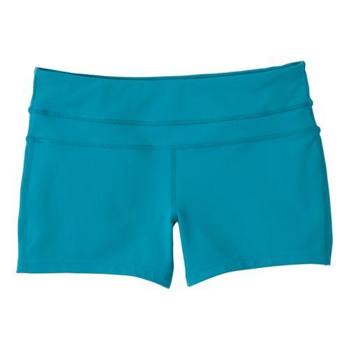 Womens Prana Audrey Unlined Shorts - Capri Blue XL