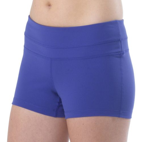 Womens Prana Audrey Unlined Shorts - Sail Blue XL