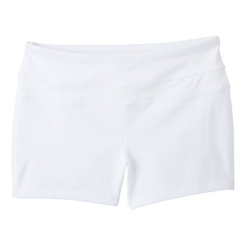 Womens Prana Audrey Unlined Shorts - White L