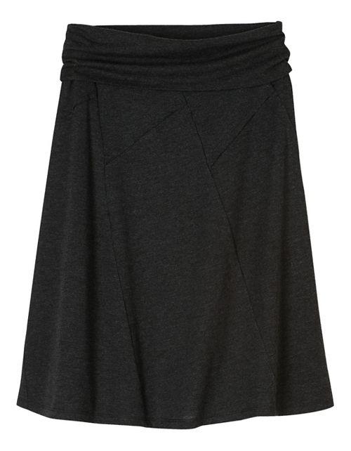 Womens prAna Daphne Fitness Skirts - Black/Black XS