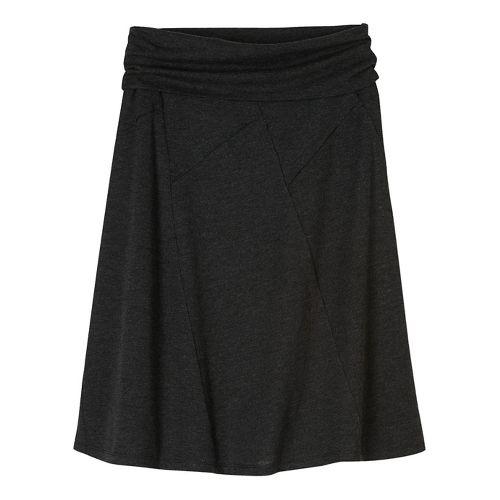 Womens prAna Daphne Fitness Skirts - Black/Black M