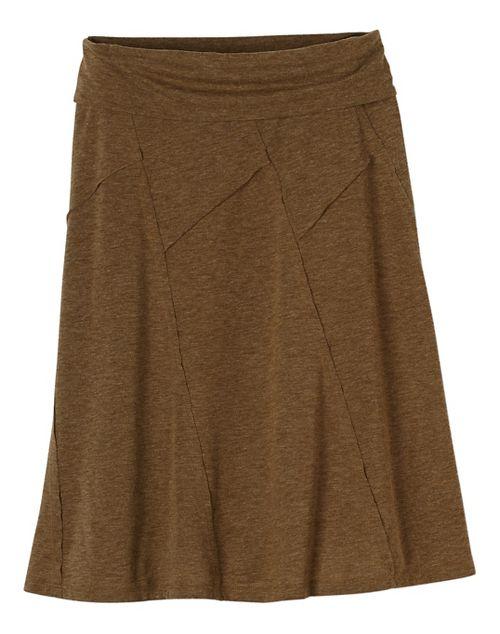 Womens prAna Daphne Fitness Skirts - Brown M