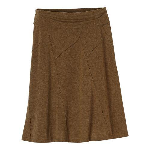 Womens prAna Daphne Fitness Skirts - Brown S