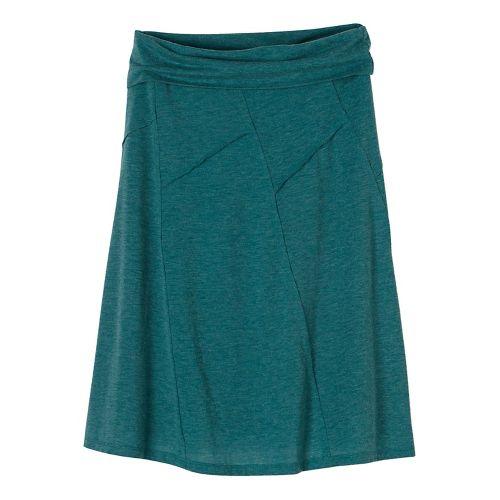 Womens prAna Daphne Fitness Skirts - Green XS