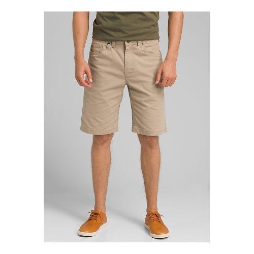 Mens prAna Bronson Unlined Shorts - Dark Khaki 30