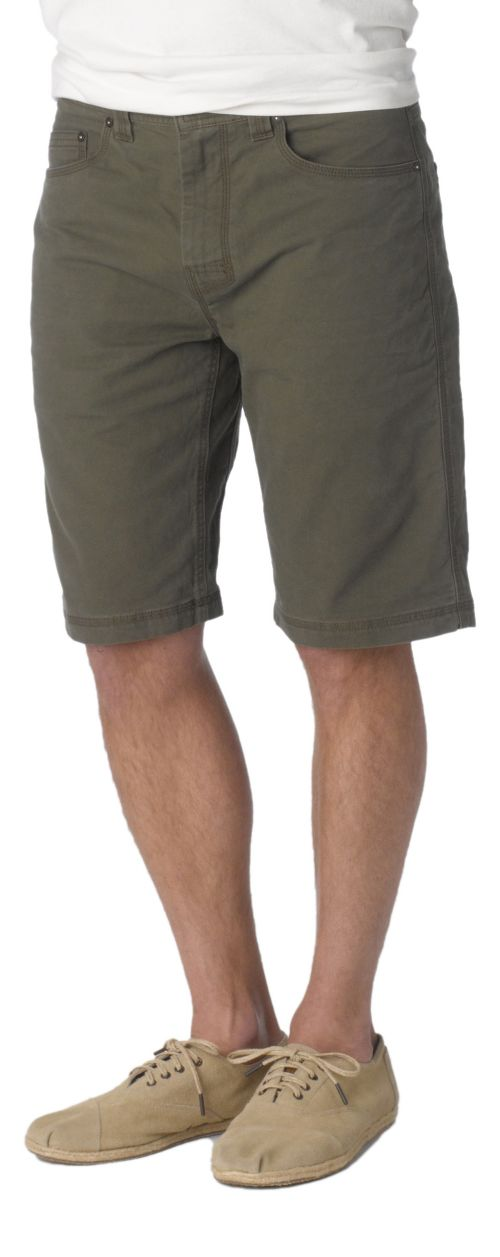 Mens prAna Bronson Unlined Shorts - Cargo Green 28