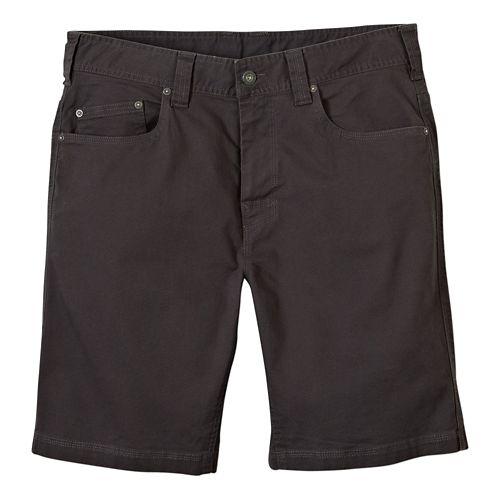 Mens prAna Bronson Unlined Shorts - Charcoal 35