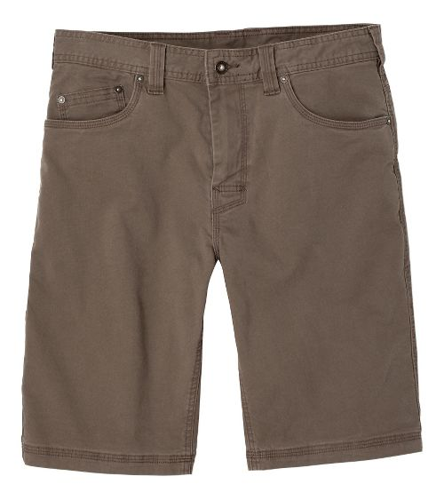 Mens prAna Bronson Unlined Shorts - Mud 40