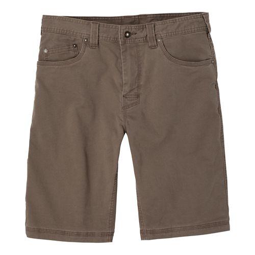 Mens Prana Bronson Unlined Shorts - Mud 40