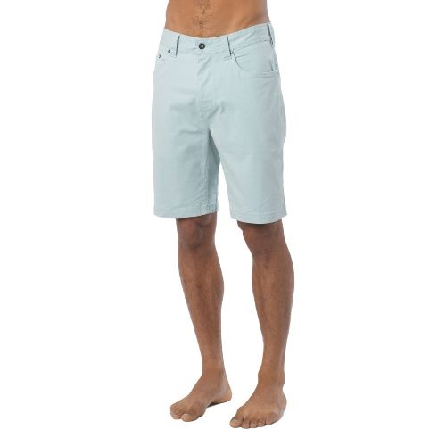 Mens Prana Bronson Unlined Shorts - Seaside Grey 33