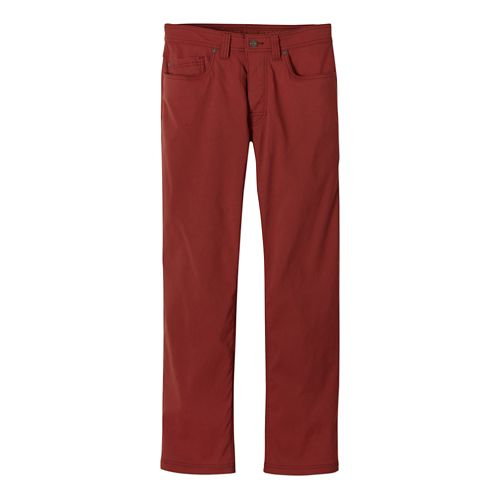 Mens Prana Brion Full Length Pants - Brick 36-T