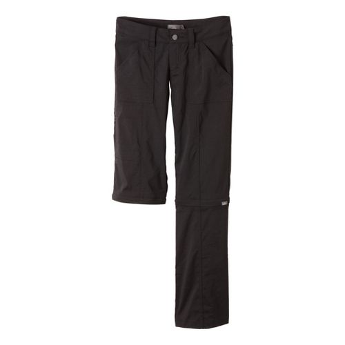 Womens Prana Monarch Convertible Full Length Pants - Black 0S