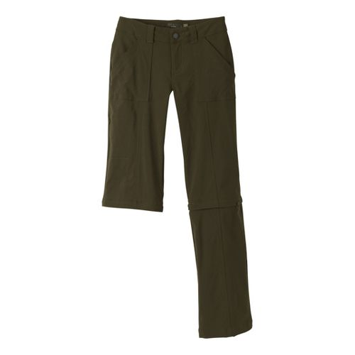 Womens Prana Monarch Convertible Full Length Pants - Cargo Green 12