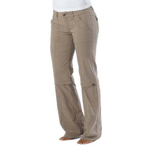 Womens Prana Monarch Convertible Full Length Pants - Dark Khaki 0T