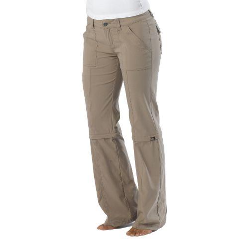 Womens Prana Monarch Convertible Full Length Pants - Dark Khaki 8T