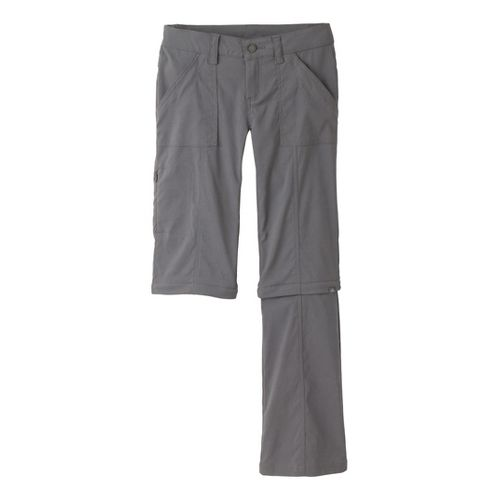 Womens Prana Monarch Convertible Full Length Pants - Gravel 4