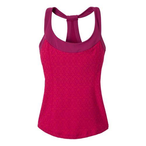 Womens Prana Raven Sport Top Bras - Boysenberry Jacquard XL
