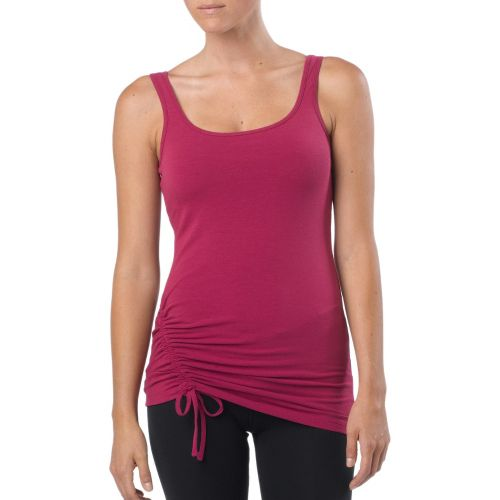 Womens Prana Ariel Tank Sport Top Bras - Boysenberry XL