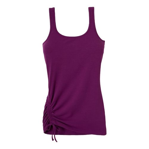 Womens Prana Ariel Tank Sport Top Bras - Red Violet L