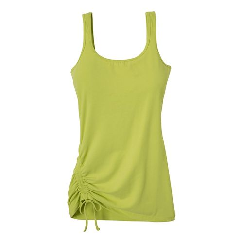 Womens Prana Ariel Tank Sport Top Bras - Wild Lime XS
