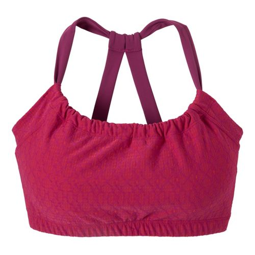 Womens Prana Quinn Top Sports Bras - Boysenberry Jacquard M