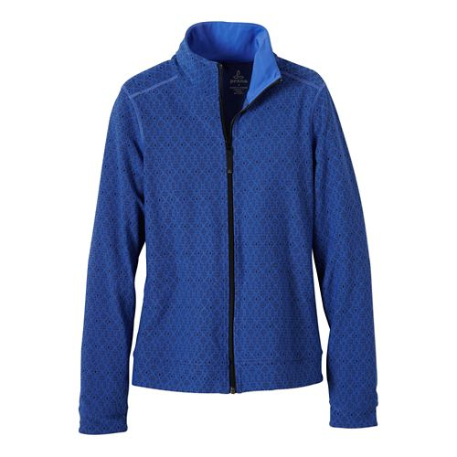 Womens Prana Randa Running Jackets - Blue Jay Jacquard XL