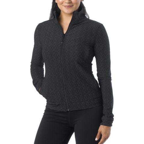 Womens Prana Randa Running Jackets - Black Jacquard M