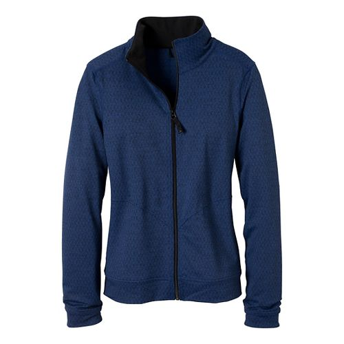Womens Prana Randa Running Jackets - Blue Twilight/Diamond M