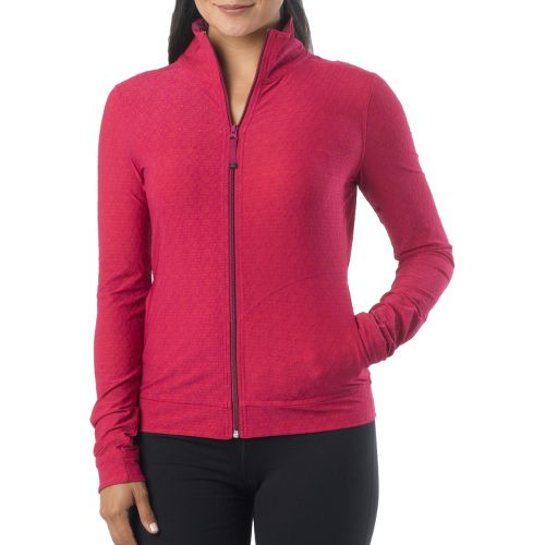 Womens Prana Randa Running Jackets - Boysenberry Jacquard XL
