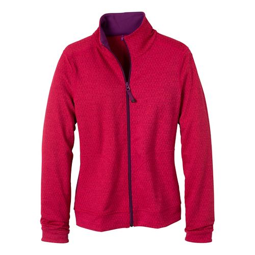 Womens Prana Randa Running Jackets - Pink Berry/Diamond XL