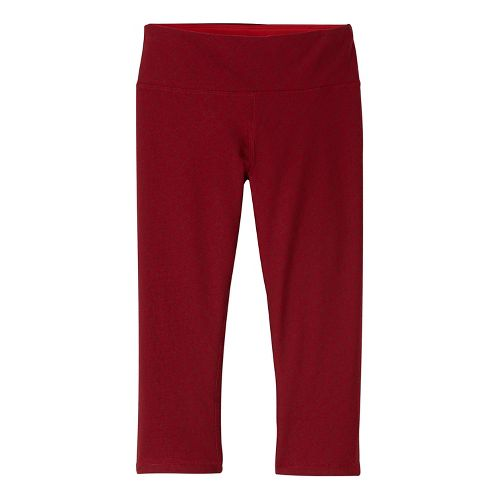 Womens prAna Misty Knicker Capris Tights - Red M