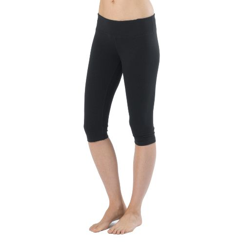 Womens Prana Misty Knicker Capri Tights - Black M