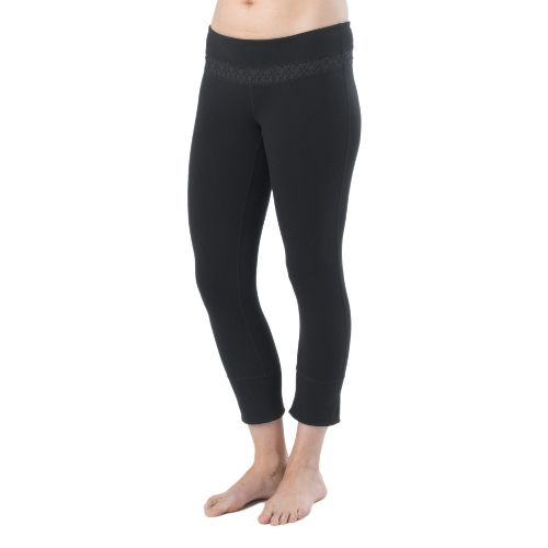 Womens Prana Clover Capri Tights - Black M