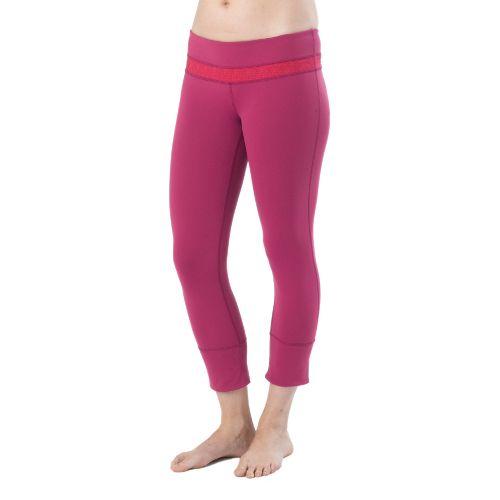 Womens Prana Clover Capri Tights - Boysenberry M