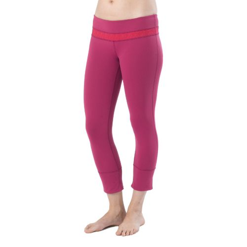 Womens Prana Clover Capri Tights - Boysenberry XS