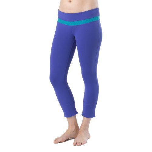 Womens Prana Clover Capri Tights - Sail Blue M
