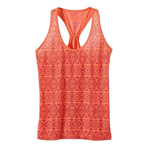 Womens Prana Luca Tanks Technical Tops - Neon Orange XL