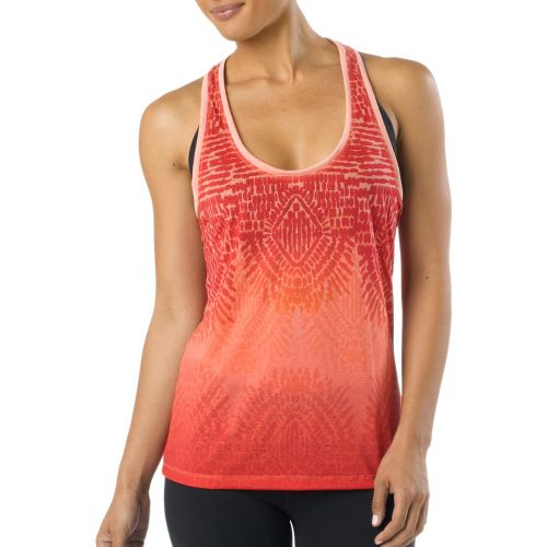 Womens Prana Luca Tanks Technical Tops - Neon Orange S