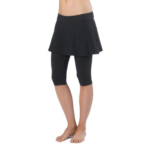 Womens Prana Darci Skirted Knicker Skort Fitness Skirts - Black XS